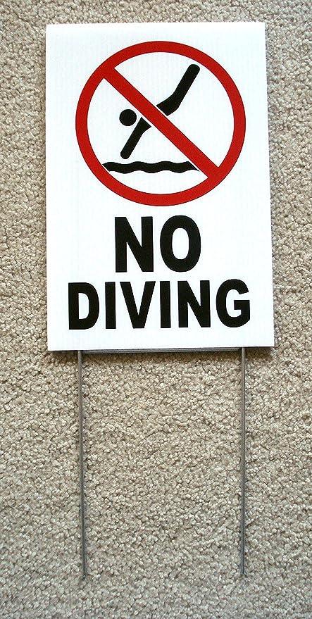 Amazon 1 Pc Master Unique No Diving Symbol Sign Outdoor