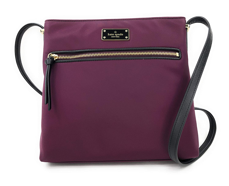Kate Spade Wilson Road Nylon Dessi Nylon Crossbody Handbag Deep Plum