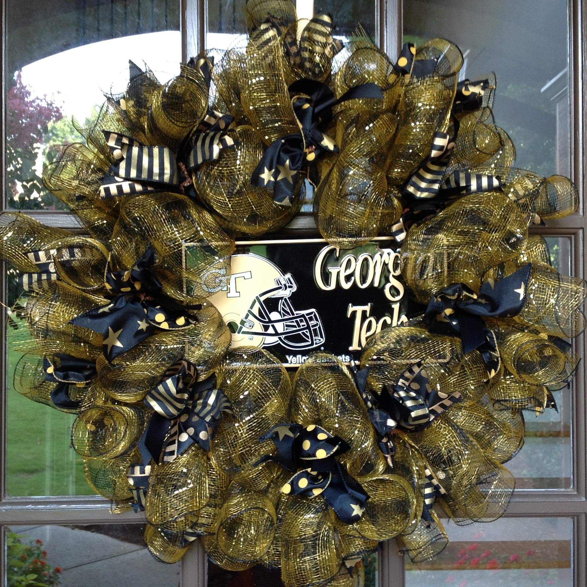 Flora Decor Ga Tech Yellow Jackets Collegiate Wreath - 26''