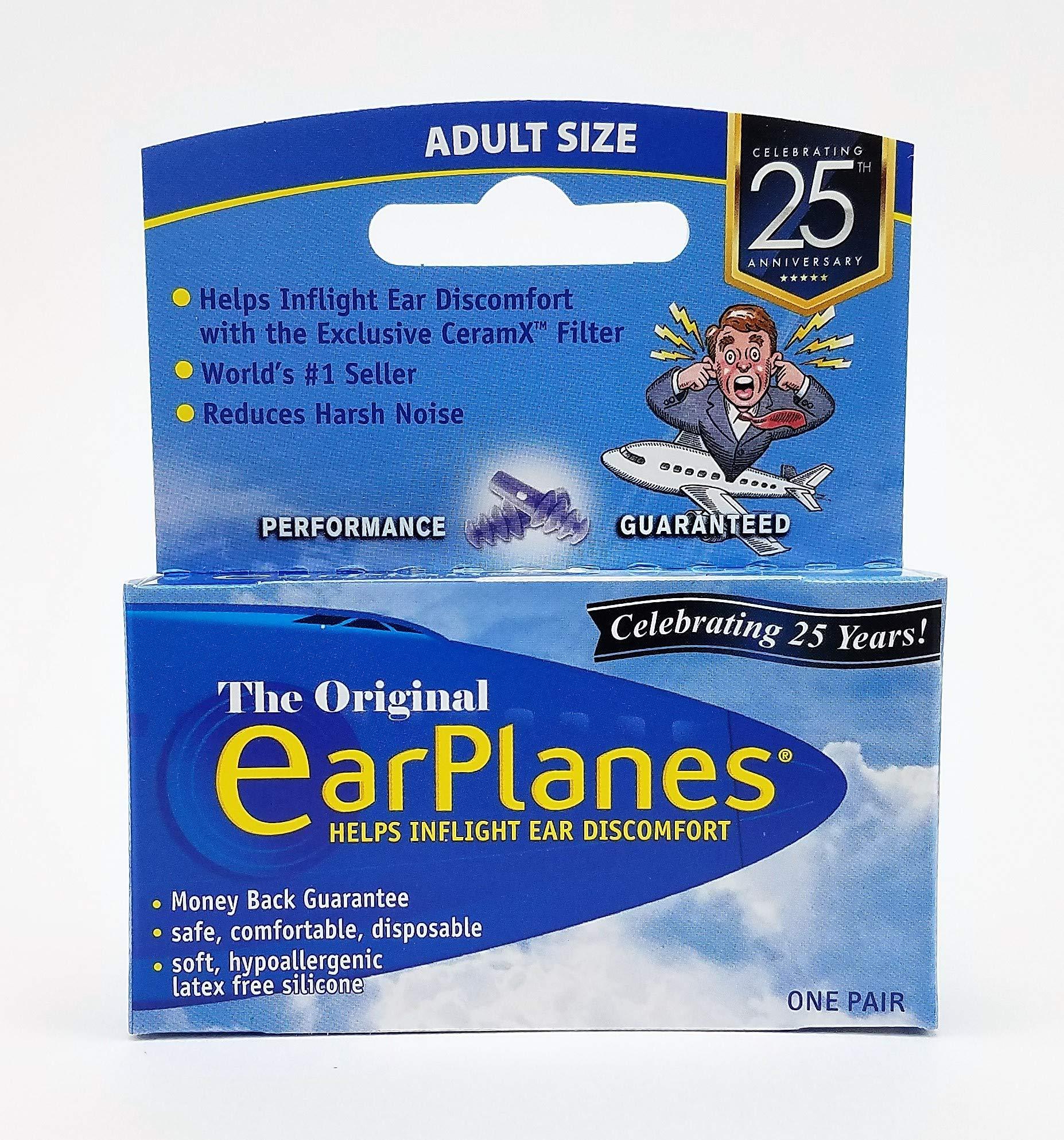 EarPlanes Ear Plugs 1 Pair (Pack of 4)