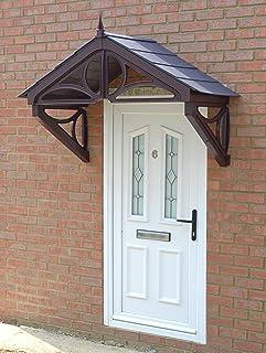 Hilton Storm Porch Canopy From KoverTek (UK Made) (Brown Frame Grey Roof & Hilton Storm Porch Canopy From KoverTek (UK Made) (White Frame ...