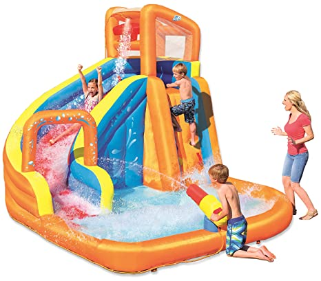 Castillo Hinchable Acuático Bestway Turbo Splash Water Zone_Mega Parque 245x200x145 cm