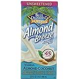Blue Diamond Dairy Free Breeze Almond Milk Blend, Unsweetened Vanilla Almond Coconut, 32 Ounce
