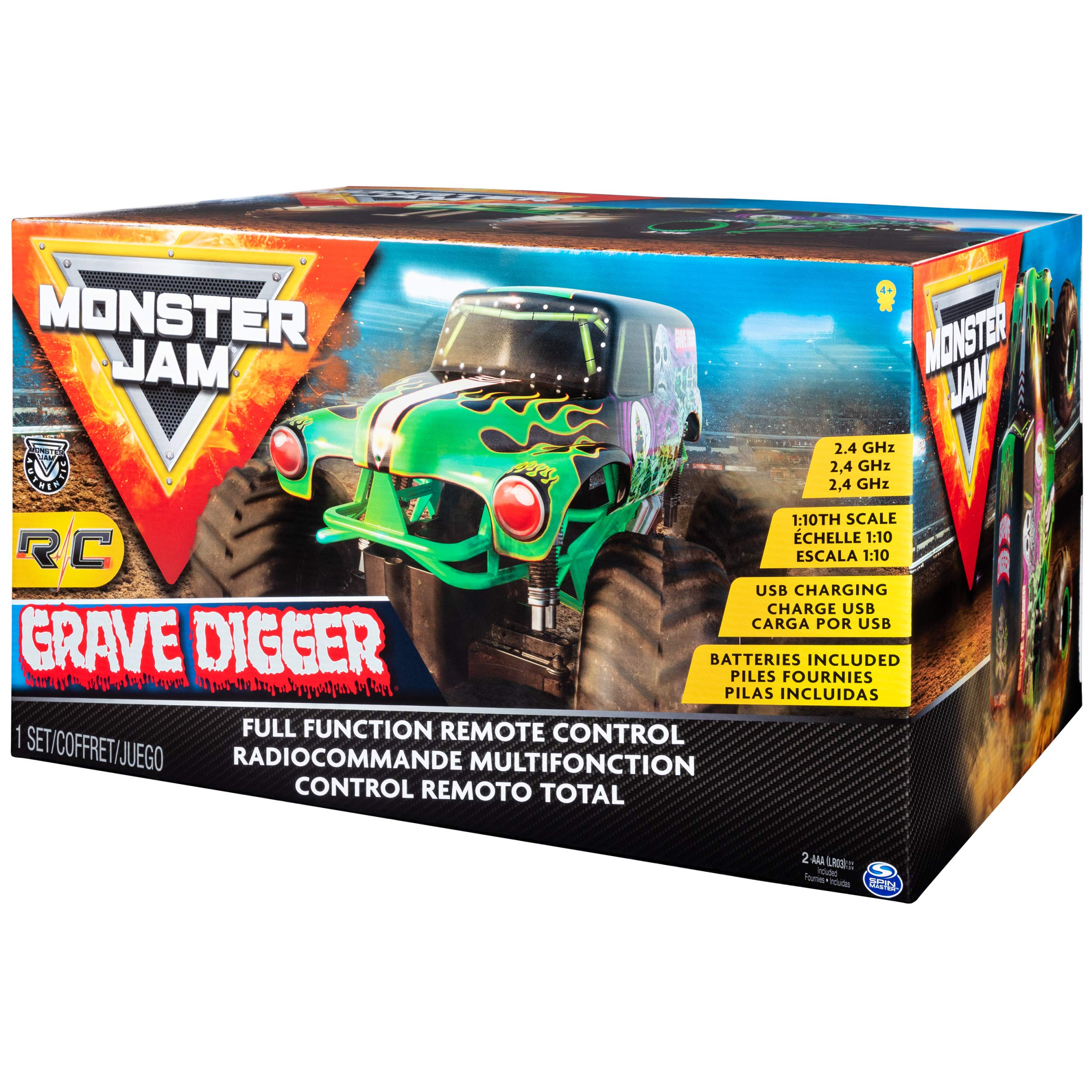 Monster Jam Official Grave Digger Rc Truck 1: 10 Scale with Lights & Sounds For Ages 4 & Up by Monster Jam (Image #6)