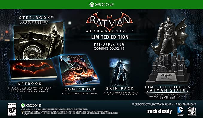 Batman: Arkham Knight - Limited Edition - Xbox One by Warner Home Video - Games: Amazon.es: Videojuegos