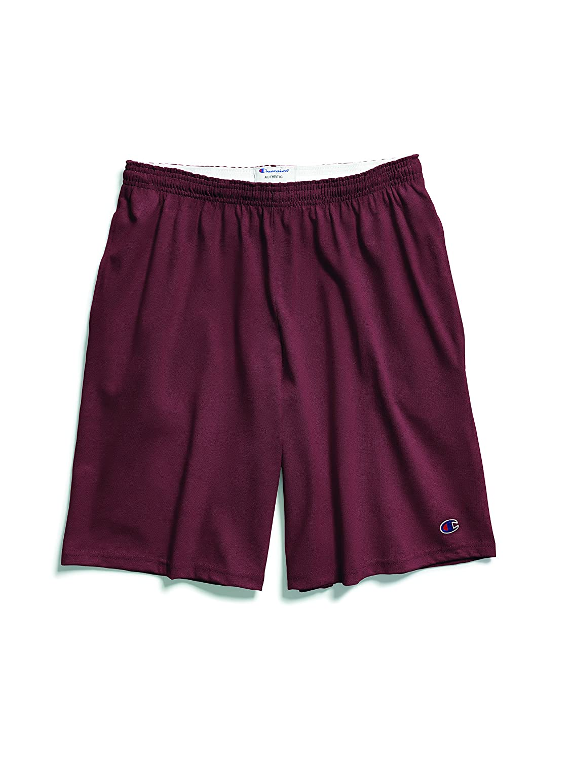 Champion Authentic Men`s Cotton Jersey 9-Inch Shorts with Pockets 85653