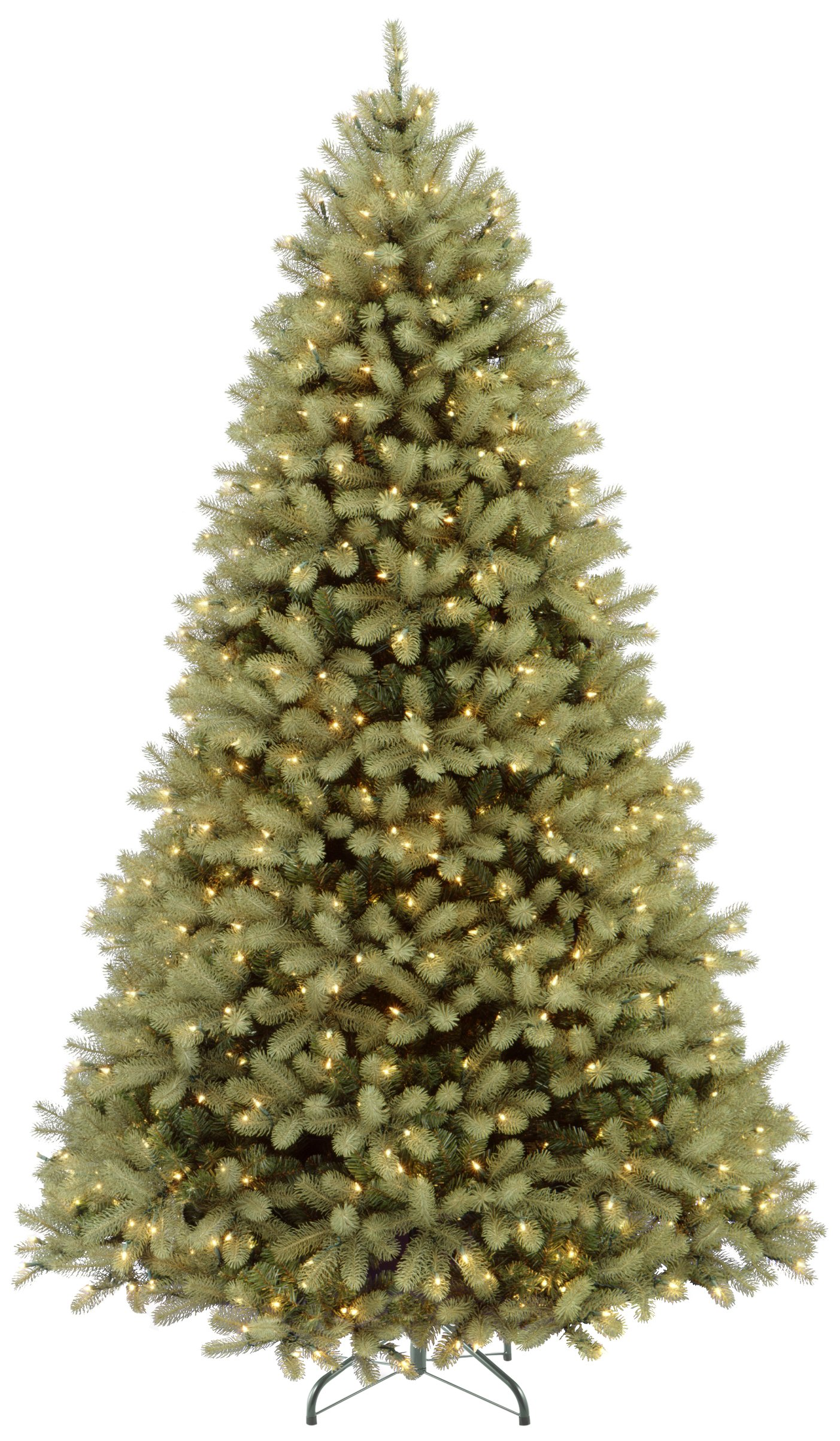 National Tree 9 Foot ''Feel Real'' Downswept Douglas Fir Tree with 900 Dual LED Lights and On/Off Switch, Hinged (PEDD1-312LD-90X)