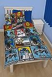 Set Piumino Letto Singolo Disegno Forza Guerre Stellari Disney