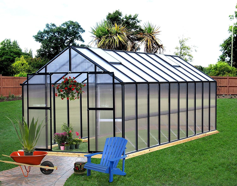 amazon com monticello mont 12 bk greenhouse 8 u0027 x 12 u0027 black