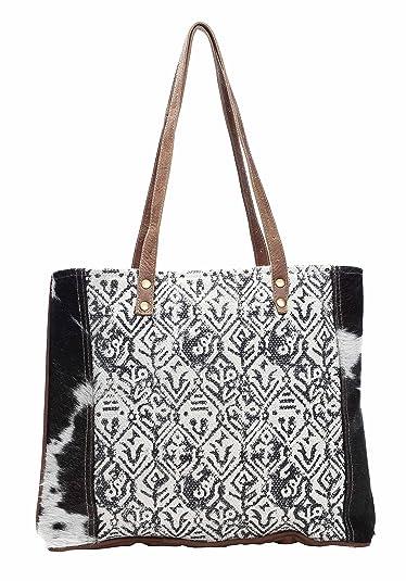 Amazon.com: Myra Bag S-1136 - Bolsa de lona de algodón y ...