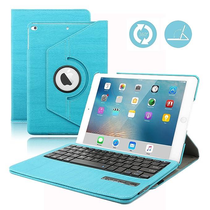 iPad Teclado 9.7 Funda, dingrich 360 Degree rotación Funda con magnético Desmontable Teclado Bluetooth para iPad Air de 9,7 Pulgadas (5ª Genration (no para ...