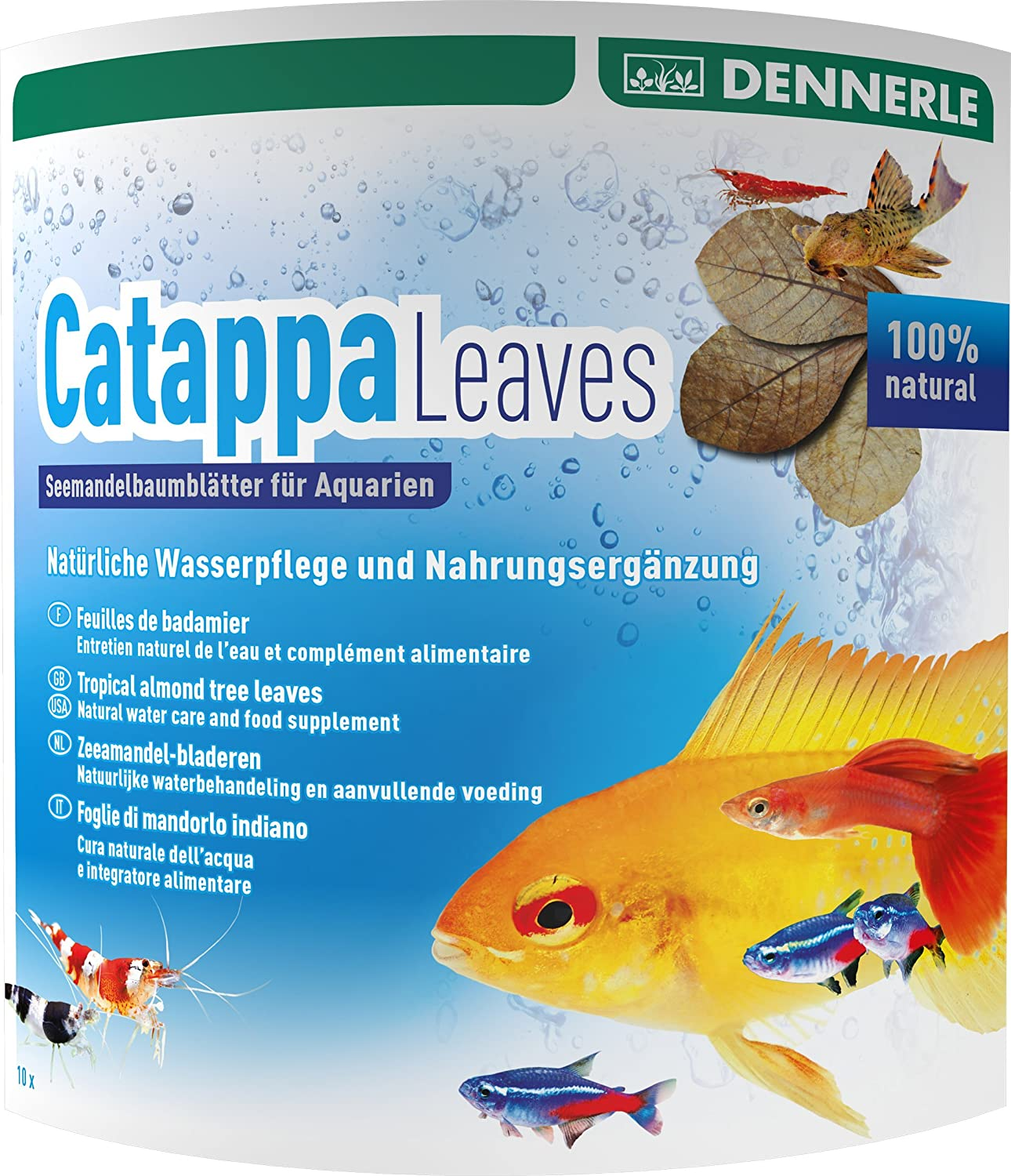 Dennerle Catappa Leaves for Fresh Water Dwarf Shrimp, Brown (2744)