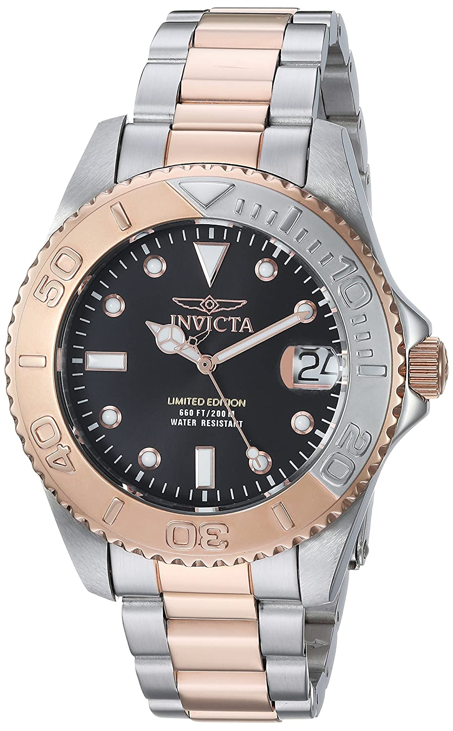 Invicta Women s Pro Diver Quartz Diving Watch with Two-Tone-Stainless-Steel Strap, 9 Model 24634