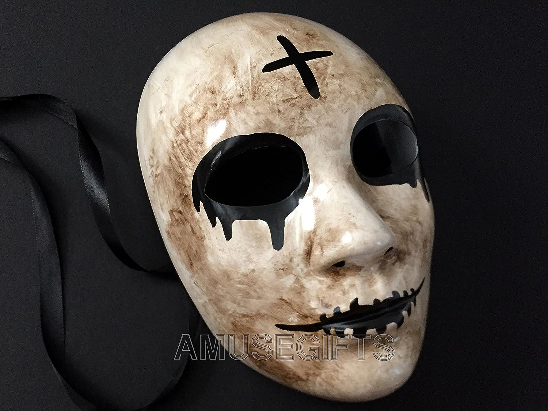 Máscara de la Cruz de purga Anarchy película máscara horror Killer purga Hombres enmascarados disfraz de Halloween Party: Amazon.es: Hogar