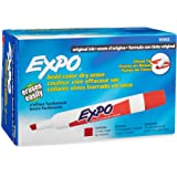 EXPO Original Dry Erase Markers, Chisel Tip, Red, 12-Count