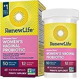 Renew Life Women's Probiotics 50 Billion CFU Guaranteed, 10 Strains, Shelf Stable, Gluten Dairy & Soy Free, 60 Capsules…