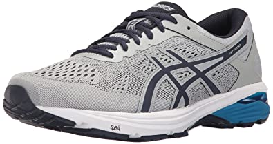 ASICS Men's GT-1000 6 Running Shoe, Mid Grey/Peacoat/Directoire Blue
