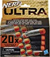 Hasbro E6600 Nerf Ultra 20 Dart Refill Pack- The Farthest Flying Nerf Darts Ever- Compatible Only with Nerf Ultra Blasters- Kids Toys & Outdoor Games- Ages 8+, Black/ Orange, Length: 9 centimeters