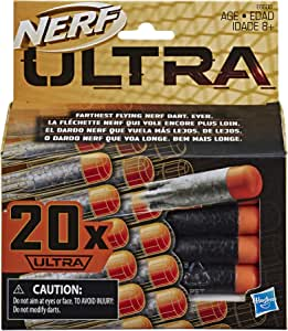 Nerf Ultra 20 Dart Refill Pack - The Farthest Flying Nerf Darts Ever - Compatible Only with Nerf Ultra Blasters - Kids Toys & Outdoor Games - Ages 8+