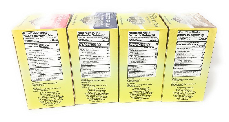 Amazon.com : Pocas Organic Moringa Tea (Four Flavor Bundle) : Grocery & Gourmet Food