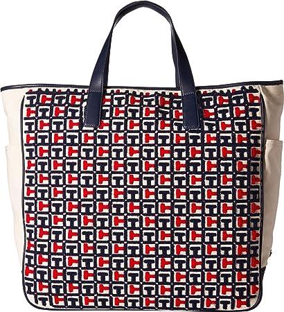 c928620cf2 Buy Tommy Hilfiger Women's Emily Terry Tote Navy/Red Handbag Online ...