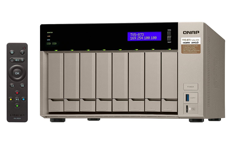 QNAP TVS-873 Ethernet Torre Oro NAS - Unidad Raid (16 TB, Unidad ...