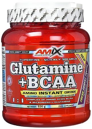 Amix Glutamina + BCAA 500 gr Frutas de Bosque: Amazon.es: Salud y cuidado personal