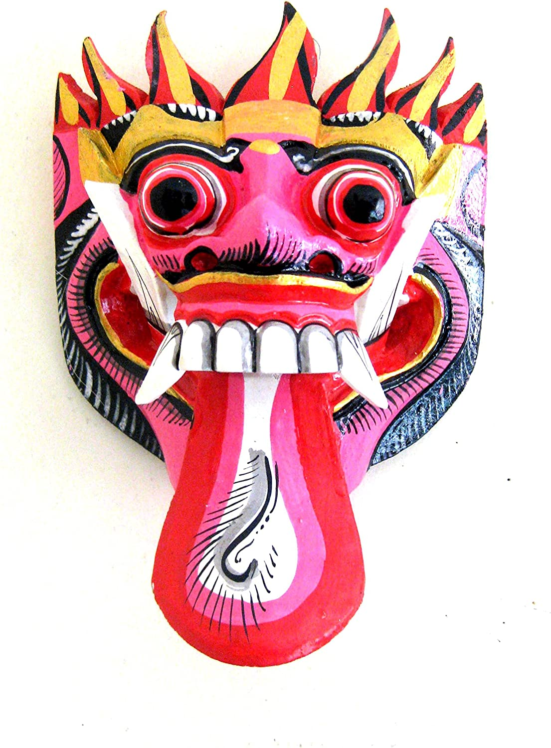 OMA African Wall Mask Decor Wooden Hand Crafted Nature Goddess Dance Wall Mask For Luck & Protection African Home Decor Gift Multi Color