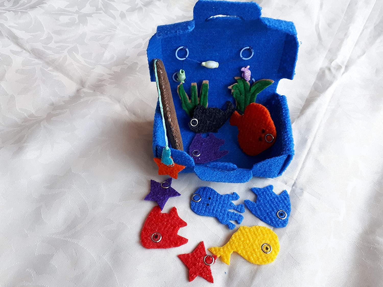 toddler game,travell toy silent toy magnetic fishing game Quiet book childrens fishing fishing in a suitcase game for travel
