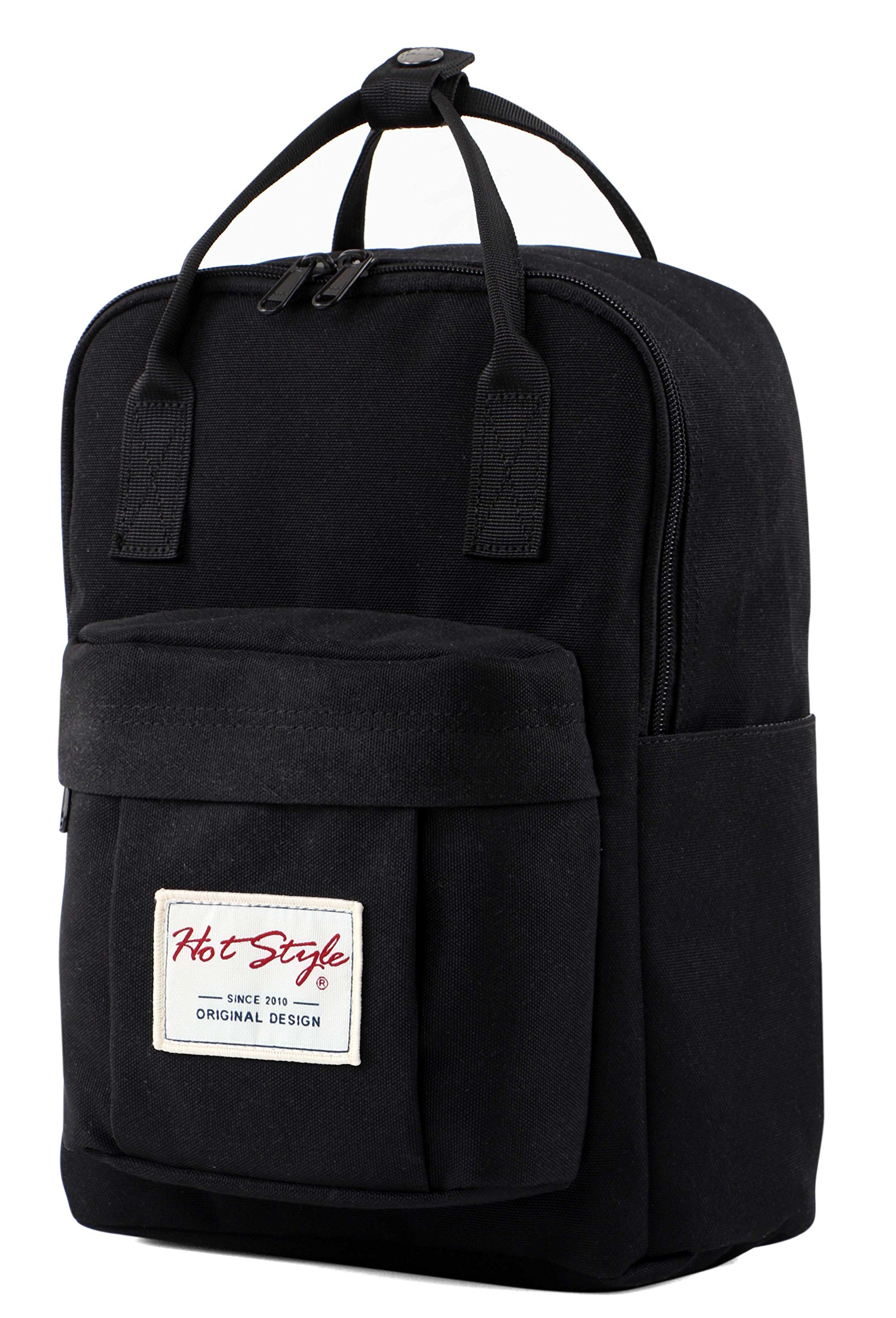 BESTIE 12'' Cute Mini Small Backpack Purse Travel Bag - Black