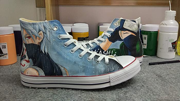 Amazon.com  Custom Naruto Anime Shoes Hand Painted Shoes Sneakers Fashion  Shoes for Kids Unisex Adult Shoe  Handmade 2189f2622