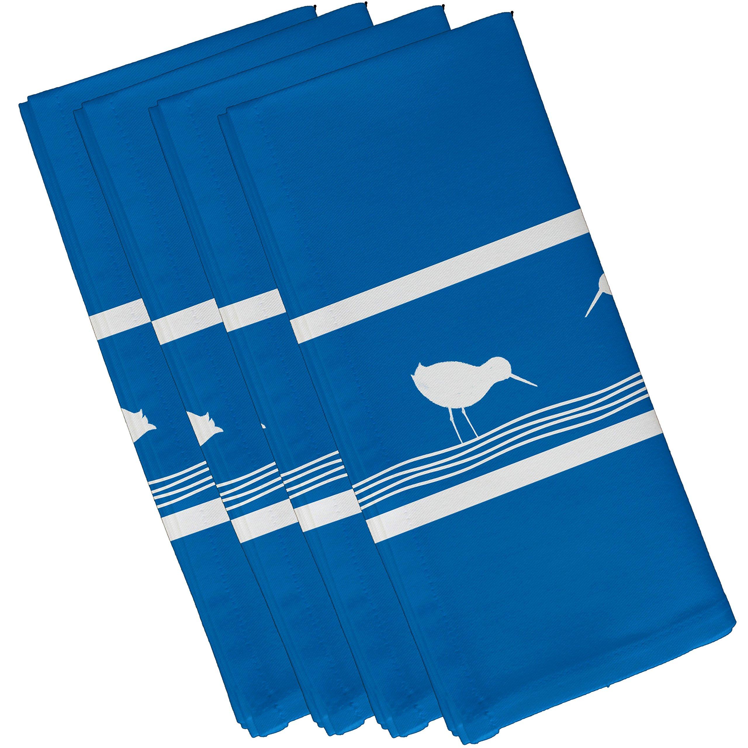 E by design Birdwalk, Animal Print Napkin, 19 x 19'', Blue