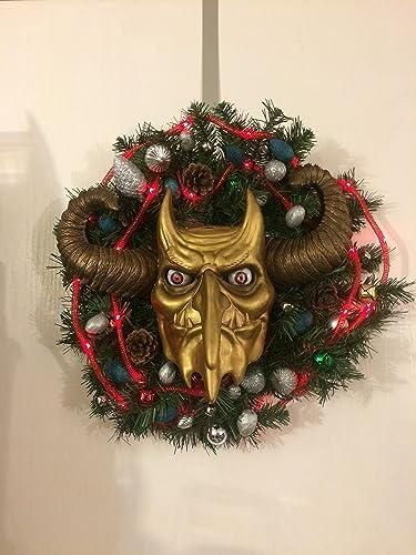 Christmas Wreath Images Free.Amazon Com Krampus Krampus Wreath Free Shipping Santa