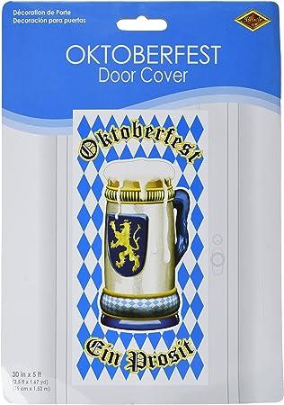 5FT OKTOBERFEST DOOR COVER Bavarian German Beer Fest Party Hanging Decoration