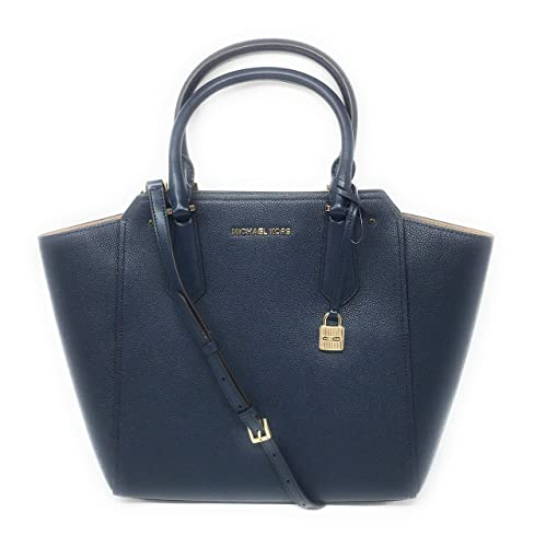 769609c1e38d Michael Kors Carolyn Large Tote Soft Leather Handbag Navy: Amazon.co.uk:  Shoes & Bags