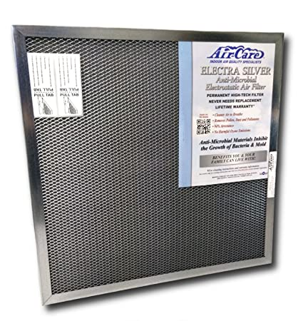 24x24x1 lifetime air filter - electrostatic, permanent, washable ...