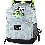 "Minecraft Backpack For Boys Zombie Skeleton Kids Grey School Bag 18"""
