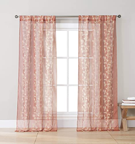 jinchan Linen Curtains Ogee Pattern Textured Lattice Grommet Top Window Panels Drapes for Bedroom Living Room Window Patio Door 2 Panels 50 Inch x 95 Inch Soft Grey on Beige