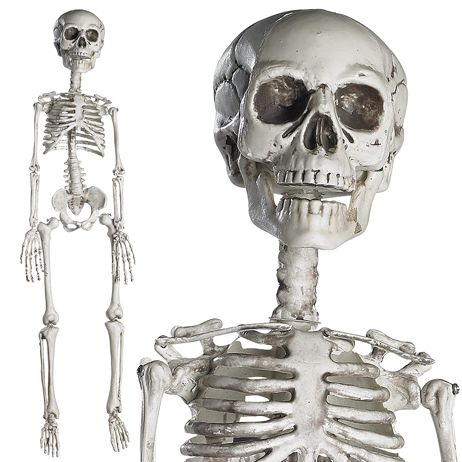amazoncom prextex 30 halloween skeleton full body halloween skeleton with movable joints for best halloween decoration toys games