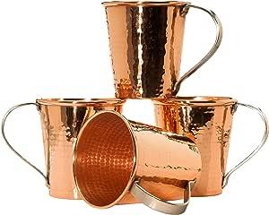 Sertodo Copper CMM-18-4 Moscow Mule Mug Set, Hand Hammered 100% Pure Copper, 18 oz, Set of 4