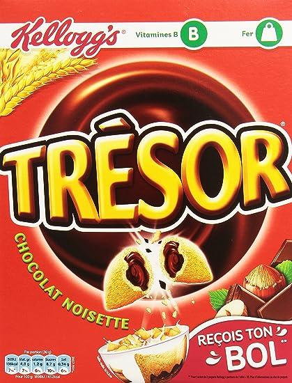 Kellogg s Céréales Trésor Chocolat Noisette 400 g - Lot de 5  Amazon ... 44edefb7a21