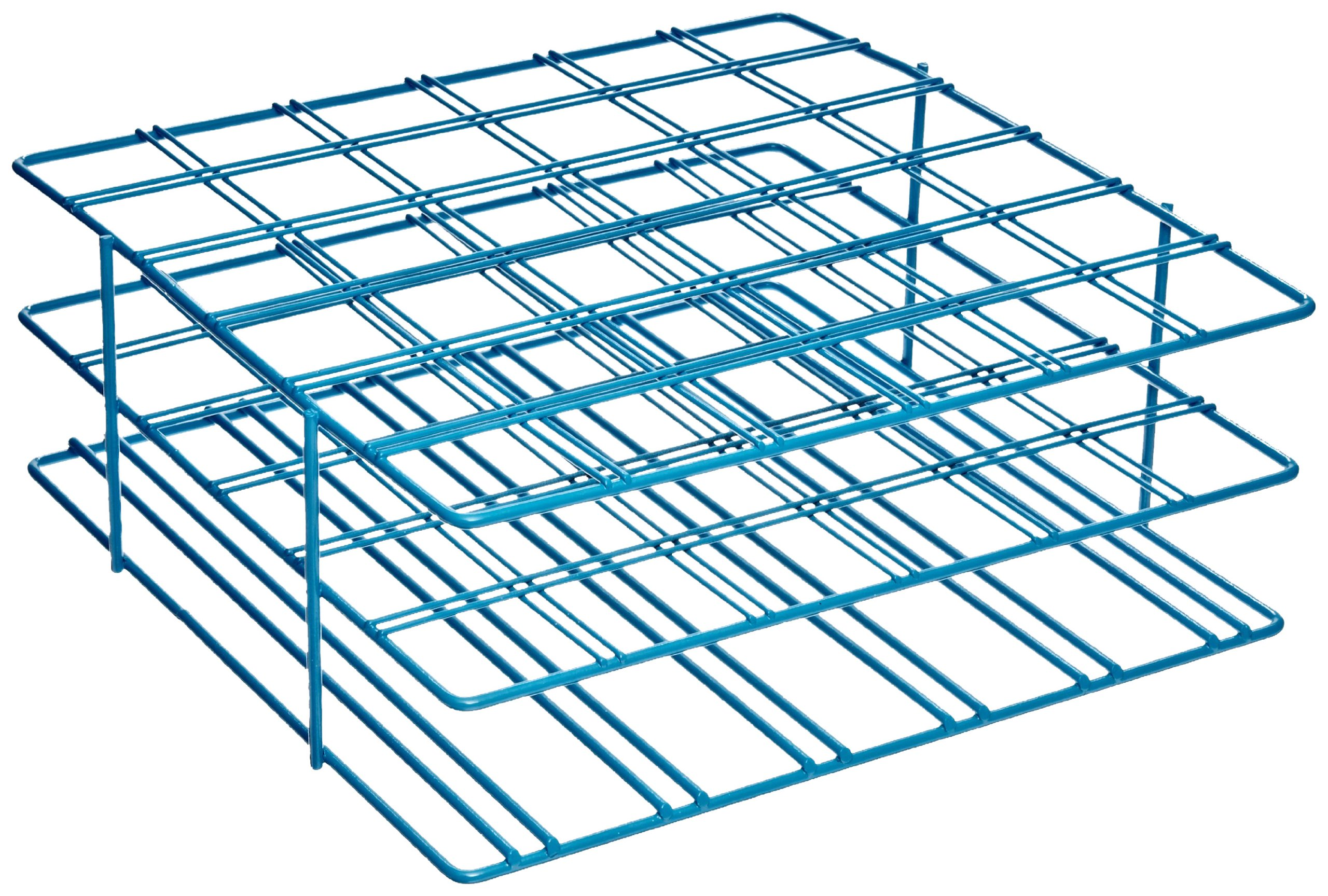 Bel-Art F18794-0002 Poxygrid Centrifuge Tube Rack; 50ml, 36 Places, 9 x 8⅞ x 3½ in., Blue
