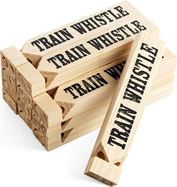 Small Wooden Train Sound Whistle Sound Warning Music Toy Kid Gift Instrument LP