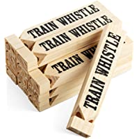 Wooden Train Whistles (Pack Of 12) Train Whistle for Kids Train Themed Party Favors, Noisemaker, Small Prize,