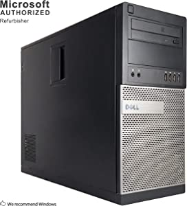 Dell Optiplex 990 Desktop Computer (Intel Quad-Core i7-2600 up to 3.4GHz, 16GB RAM, 2TB HDD, WiFi, VGA, DisplayPort, (Tower w/ HDMI), Windows 10 Professional - (Renewed)