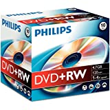Philips DVD+RW 4.7GB (4x) 10pk Jewel Case