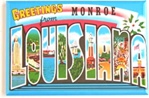 Greetings from Monroe Louisiana Fridge Magnet (1.75 x 2.75 inches)