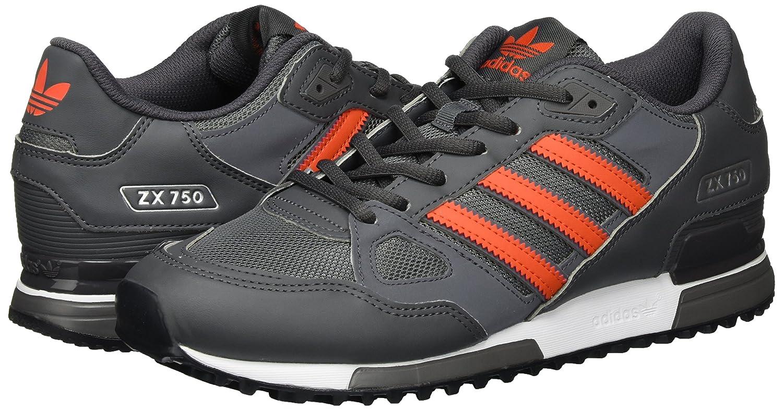 Discount adidas Mens Zx 750 Low Top Sneakers Grey Granite