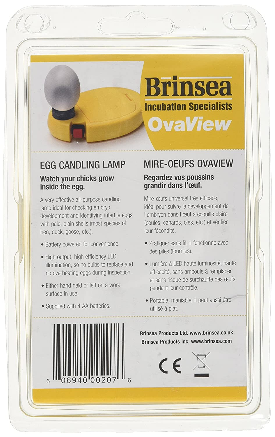 Amazon.com: Brinsea Products Candling Lamp For Monitoring The Development  Of The Embryo Within The Egg: Pet Supplies