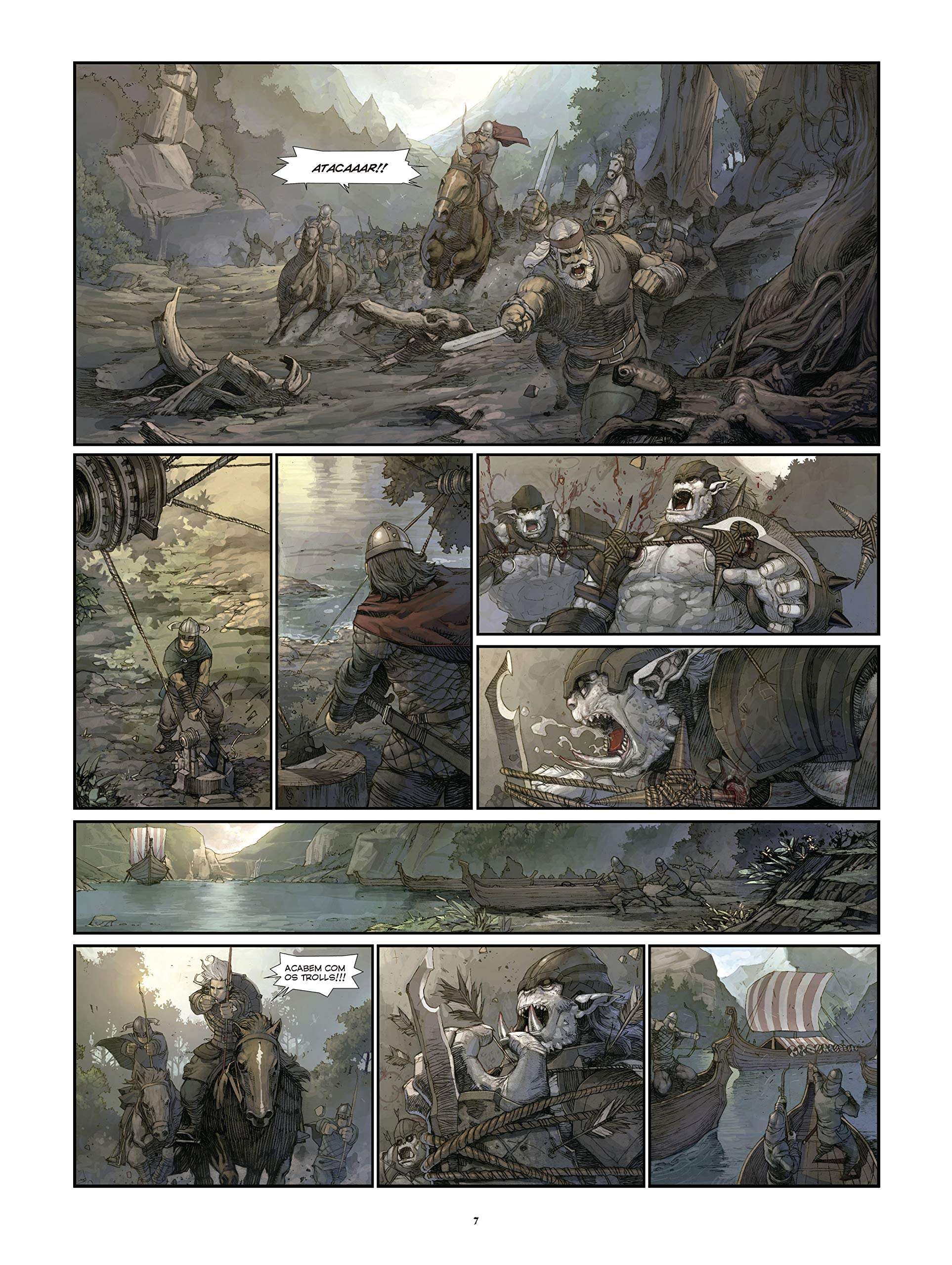 Konungar. A Guerra dos Reis (Em Portugues do Brasil): Sylvain Runberg e Juzhen: 9788578673536: Amazon.com: Books